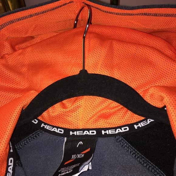 Head Other - Head Youth Full Zip Hoodie, Gray Heather / Orange
